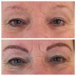 Augenbrauen mit Permanent Make up direkt nach der Behandlung