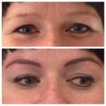 Augenbrauen Permanent Make up direkt nach der Behandlung