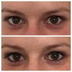 Permanent Make up Lidstrich oben + unten direkt nach der 1. Behandlung